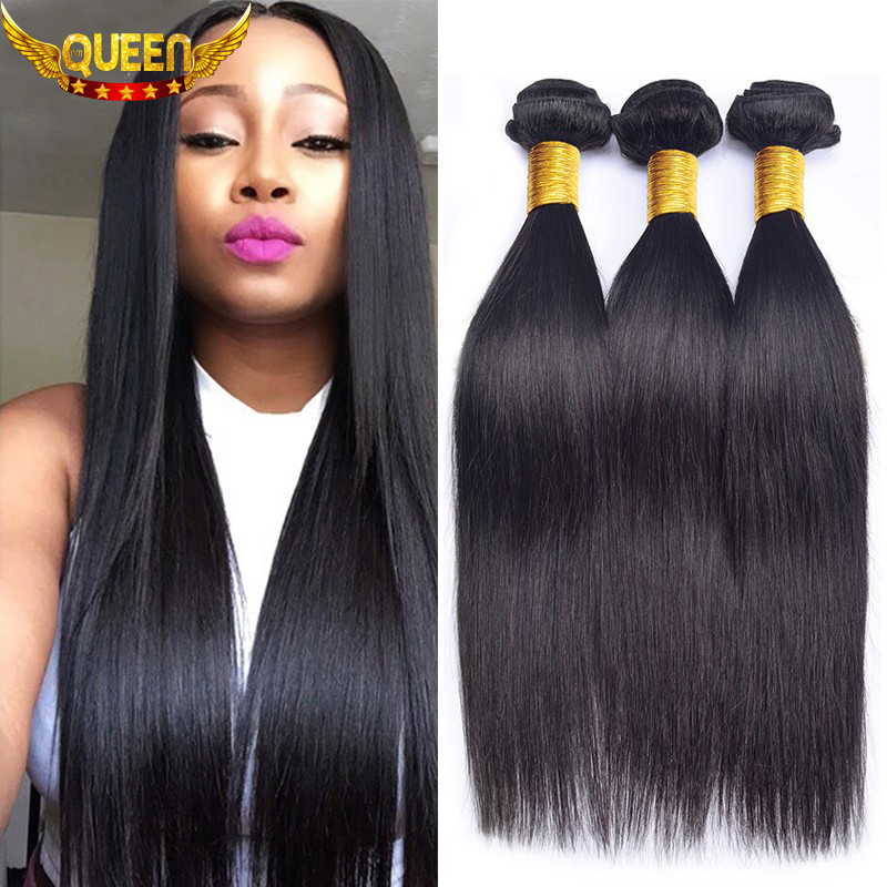 7A Unprocessed Brazilian Virgin Hair Straight 3 PCS Brazilian Straight Hair 100% Human Hair Weave Brazilian Hair Weave Bundles