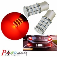 PA LED 2pcs x 55SMD 2835 5630 LED Bulbs 1156 BAU15S RED Color 12V Dome light