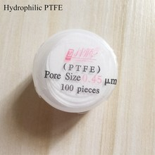 Microporous Filter Membranes Hydrophilic PTFE 13mm/25mm 0.45um/0.22um PTFE Micro Membrane Filter 100pcs/pk JIN TENG BRAND