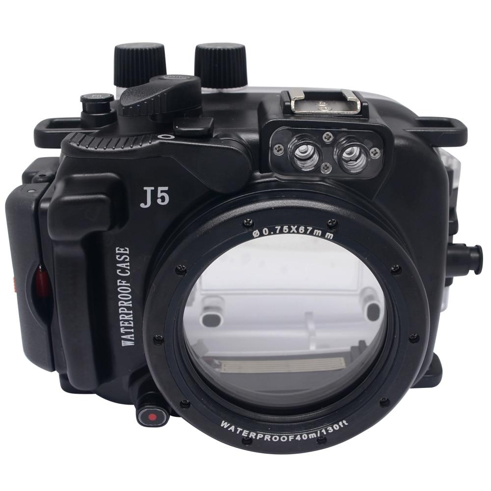 Mcoplus 40M/130ft  Camera Underwater Housing Waterproof Shell Case For Nikon J5 10mm Lens 130 shell