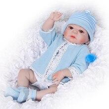"""De silicona de Cuerpo Completo Renacer Muñecas 23 """"Boneca Realista Muñecas Artesanales Bebé Muchacho de La Manera Niños Juguete Impermeable Regalos de Cumpleaños Modelo"""