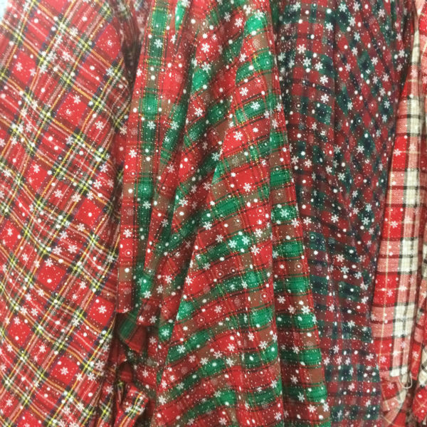 new 145cm 100cm christmas plaid fabric snow flaks printing checks fabric in fabric from home garden on aliexpresscom alibaba group - Christmas Plaid Fabric