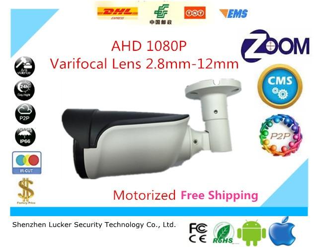 bilder für Luckertech AHD Stiftkamera IP66 Electric zoom 2,8-12mm AutoFocused 1080 P 2441 H + SC2135 Variable objektiv wasserdicht freies schiff