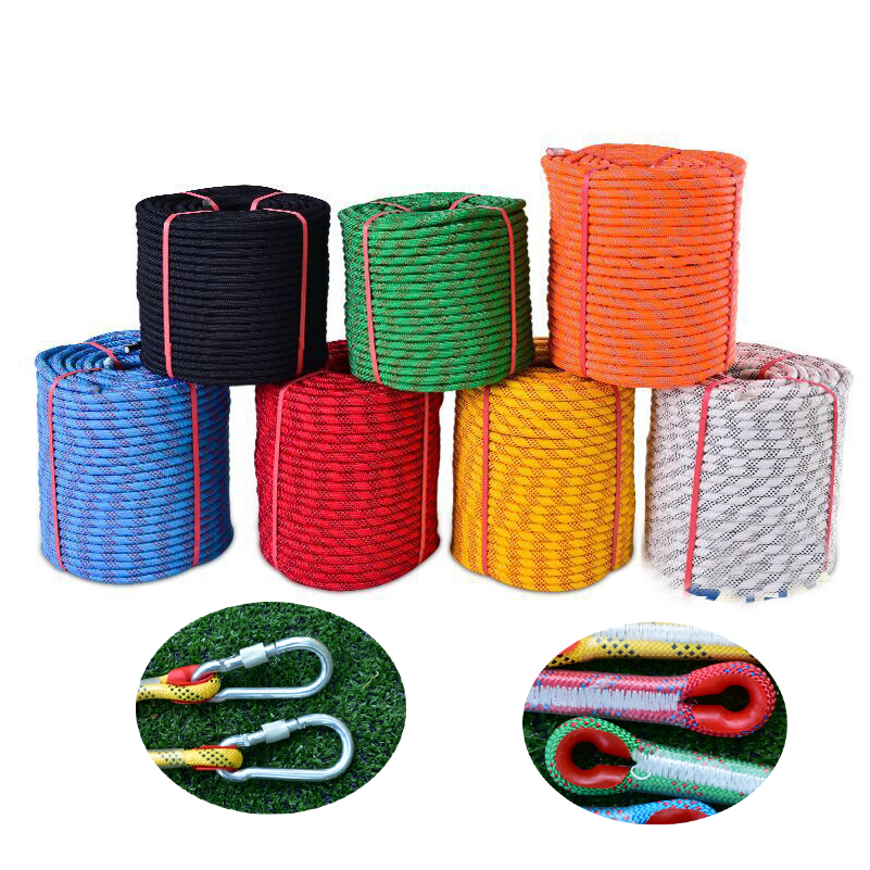 Cores Paracord For Parachute Cord Lanyard 10mm Outdoor Tree Wall Rock Climbing Camping Rope Hiking Clothesline Escape Safety