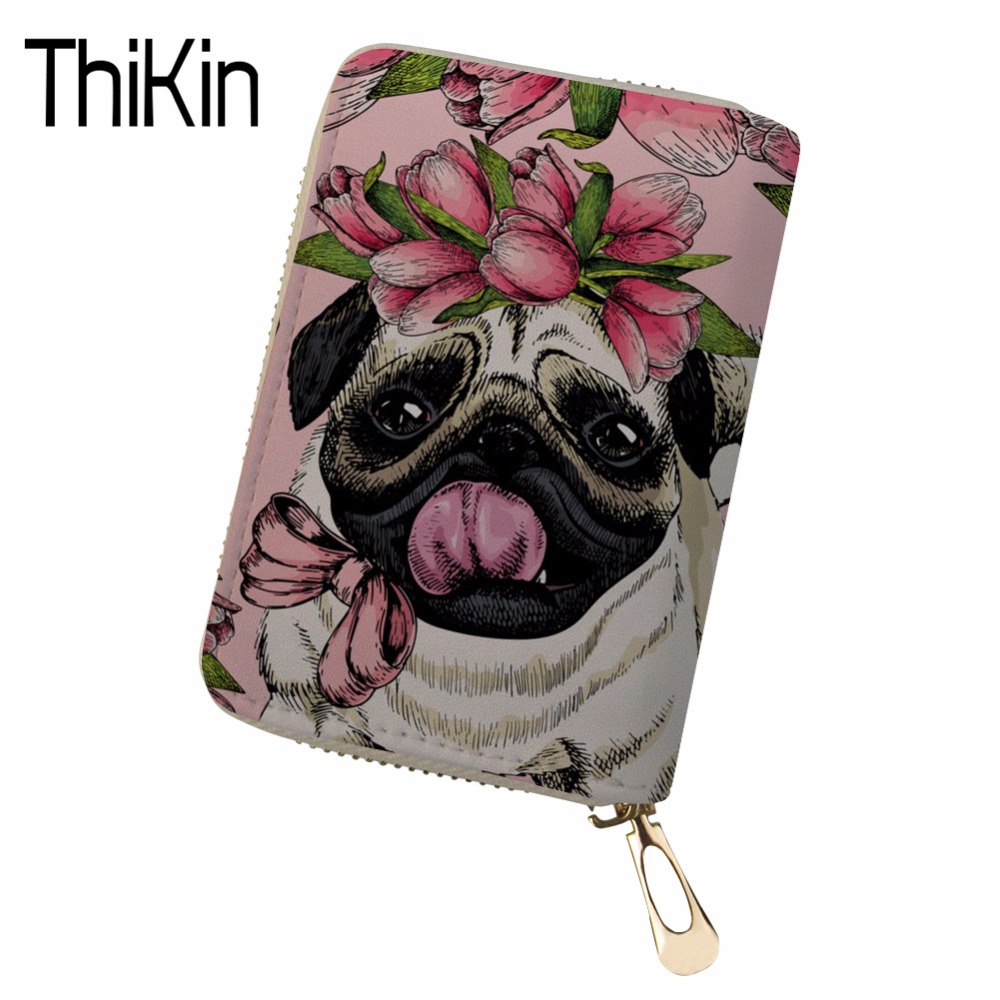 Thikin Large Capacity Travel Passport Cover Women Cute Corgi Printing Clutch Credit Card Holder Passport Wallet Purse Money Bag Luggage & Bags