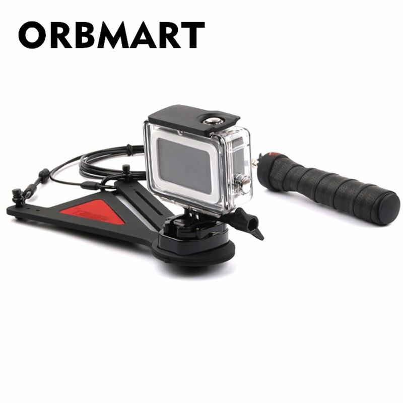 ORBMART 360 degrés support rotatif balle temps encore roman photographie de tir pour Gopro Hero 5 6 Xiaomi Yi SJCAM caméra de Sport