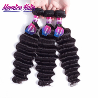 Mornice Hair Brazilian Loose Deep Human Hair Weave 100 Remy Hair Natural Black Color Free Shipping