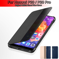 100 Official Original For Huawei P20 P20 Pro Flip Case Cover Smart View Case For Huawei