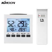 Thermomètre et hygromètre numérique sans fil pour intérieur et extérieur, affichage de la valeur minimale maximale, transmetteur, affichage LCD