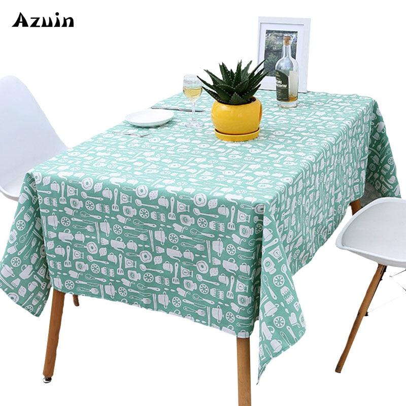Waterproof Rectangular Table Cloth Cotton Linen Tablecloth Home