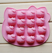 Bakeware mould Pink hello kitty Silicone  Cake mold sugar arts set Fondant Cake tools cookie cutters free shipping