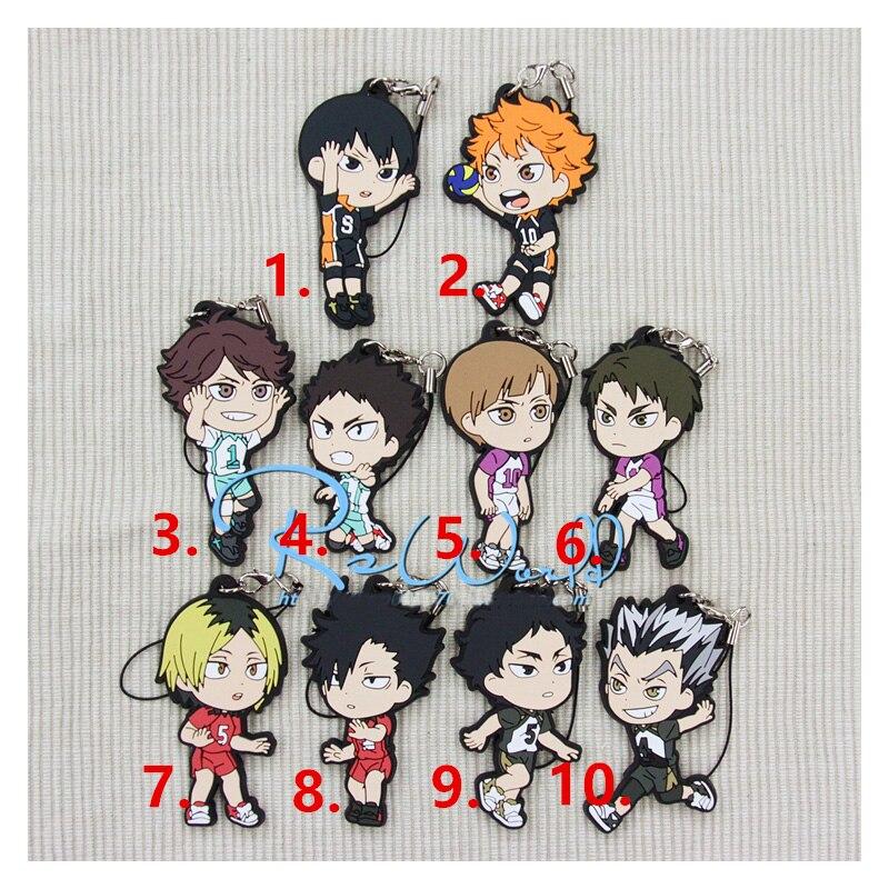 1pcs Anime Keychain Haikyuu! Karasuno High School Volleyball Club Hinata Shyouyou Pendant Keychain KulcstartoPortachiavi Keyring