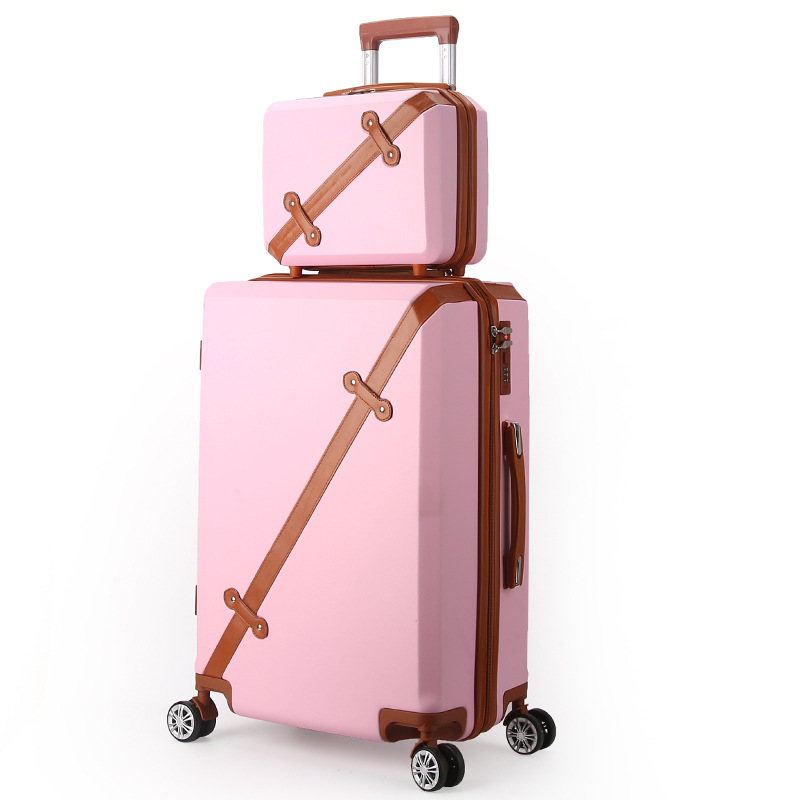 LeTrend 28 inch High capacity Retro Rolling Luggage Spinner Students Password Suitcase Wheels 20 inch Cabin Trolley Travel Bag