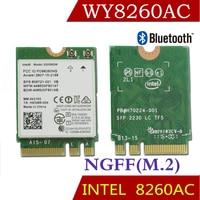 Winyao WY8260AC NGFF Dual Band Wlan Card w/ Intel Wireless AC 8260 8260NGW 2x2 WIFI 802.11ac 300Mbps 867Mbps Wi Fi Bluetooth 4.2
