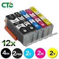 12PCS PGI 470 470 ink cartridge For Canon pixma MG5740 MG6840 MG7740 MG5440 IP7240 TS5040 TS6040 printer Inkjet Cartridge