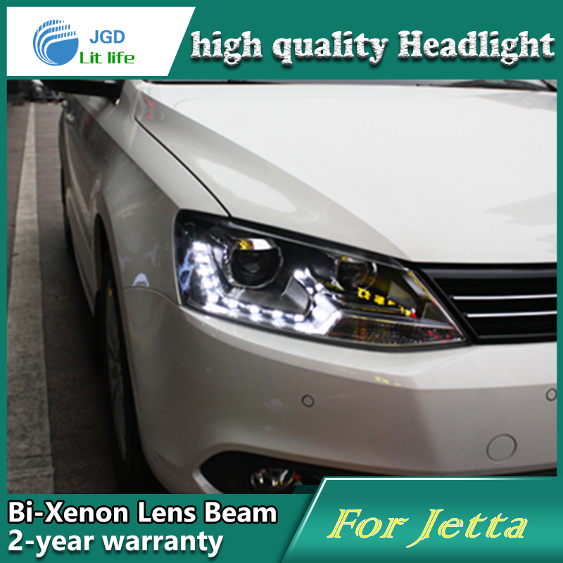 high quality Car Styling Head Lamp case for VW Jetta 2012-2014 LED Headlight DRL Daytime Running Light Bi-Xenon HID Accessories top quality 0258007057 17014 lsu4 2 wide band o2 sensor for 99 05 vw jetta 1 8l l4 021906262b 06b906265d 06b906265m