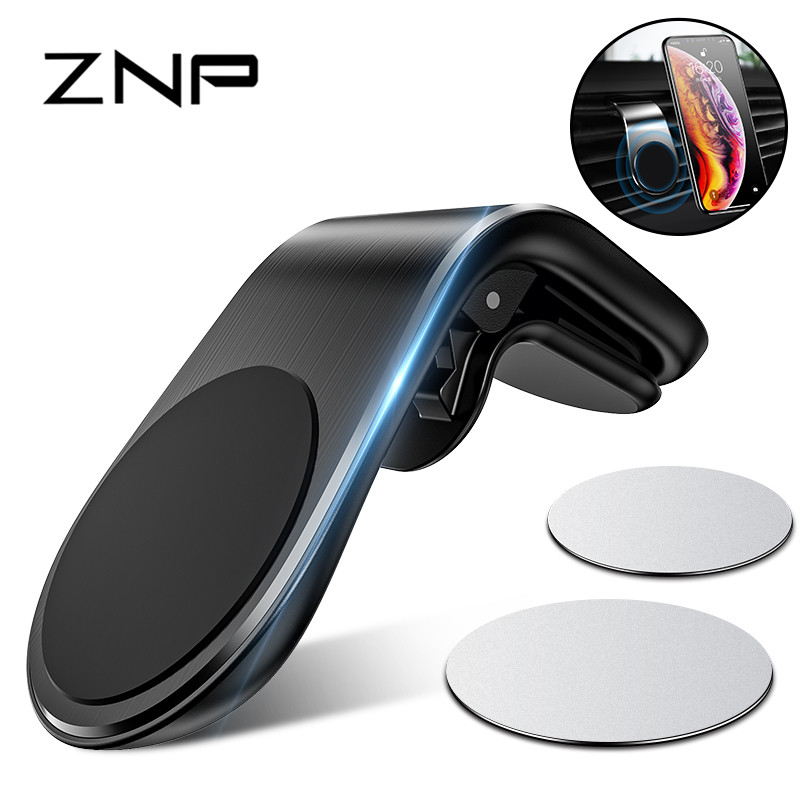 ZNP Car Phone Holder For Phone In Car Mobile Support Magnetic Phone Mount Stand For Tablets And Smartphones Suporte Telefone-in Phone Holders & Stands from Cellphones & Telecommunications