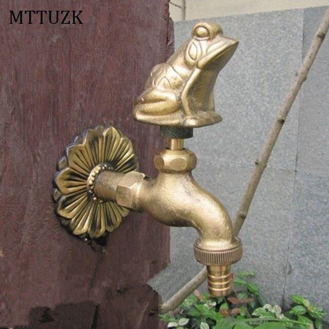 Amazing Mttuzk Outdoor Garten Wasserhahn Tierform Bibcock Mit Antiken  Messing Frosch Tap Fr Waschen Moppgarten With Wasserhahn Fr Garten