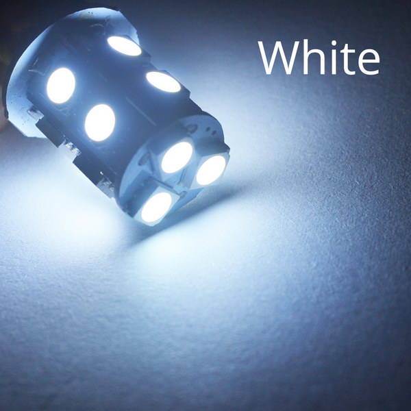 1156 BA15S 1157 BAY15D P21W BA15D 13Led 5050 Автомобильные светодиодные поворотные парковочные сигнальные огни, тормозные задние лампы, автомобильные задние лампы заднего хода, DC 12 В - Испускаемый цвет: White