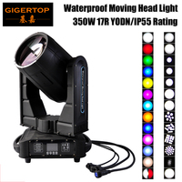 Gigertop 350W Waterproof Moving Head Light Original YODN MSD 17R Bulb 7800K Color 16 DMX Channels LED Screen 16/8 Facet Prism
