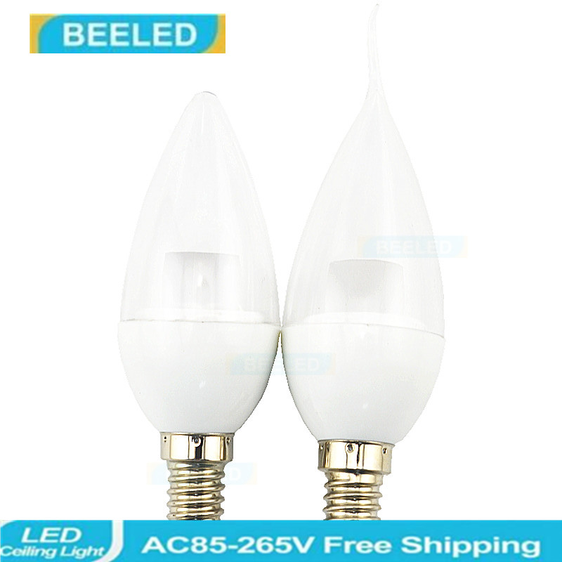 6 X LED E14 Bulb 5W New Design Crystal bulb lamp Candle light  good quality Energy Saving home decro
