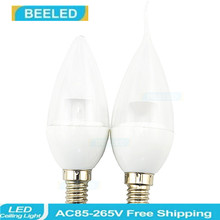 6 X LED E14 Bulb 5W New Design Crystal bulb lamp Candle light  good quality Energy Saving home decro