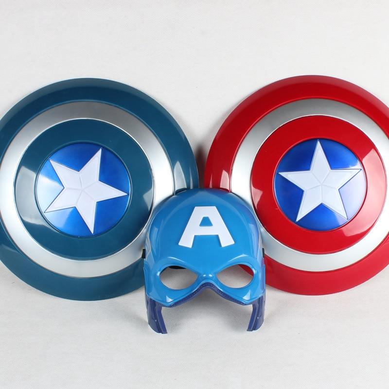 32cm חדש קפטן אמריקה איור צעצועים זוהר נסער מגן מסכה כף נוקמים אנימה הצג פרופס צעצועים לילדים מתנות חג