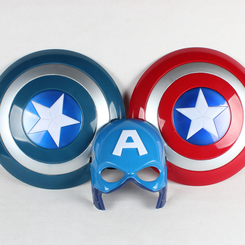 32CM New Captain America Figur Leksaker Ljusupplösning Sköldmaske - Toy figuriner
