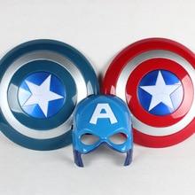 32CM New Captain America Figure Toys luminous Upset Shield Mask Cape Avengers Anime Show Props Children