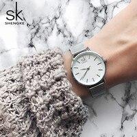 SK Fashion Golden Elegant 7 5 Mm Super Slim Women Wrist Watches Top Luxury Brand Ladies