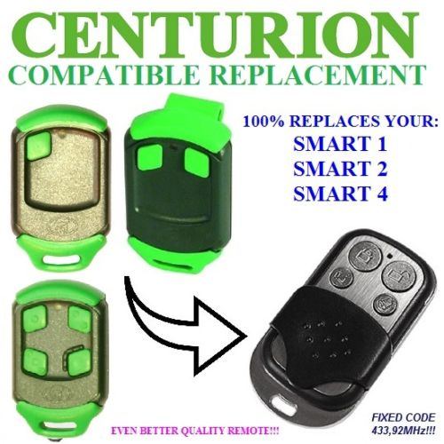 Centurion Classic 1,2,3  SMART, SMART 2,Universal Remote Control/transmitter Garage Door Replacement Clone Duplicator 433.92MHz