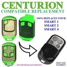 Centurion Classic 1,2,3  SMART, SMART 2,Universal remote control/transmitter garage door replacement clone duplicator 433.92MHz