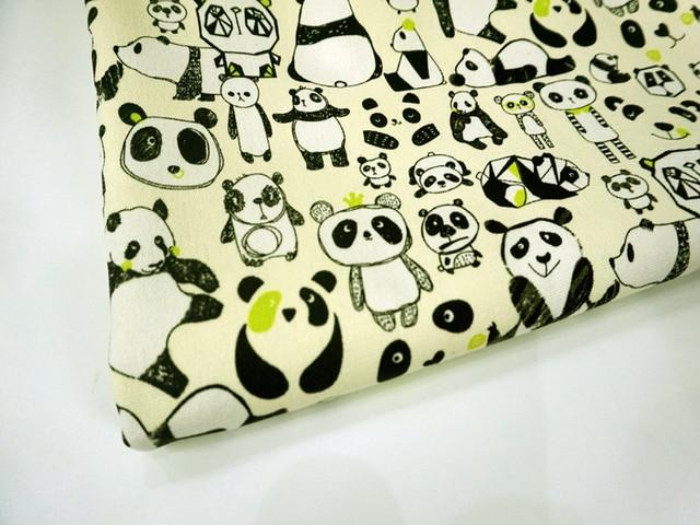 90*145 cm Gemalt panda malerei Baumwolle Leinwand Stoff Patchwork ...