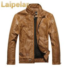 цены Men Autumn Winter Leather Jacket Motorcycle Leather Jackets Male Business Casual Coats Brand Clothing Laipelar Faux Leather Coat