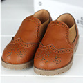 New British Style Brogue Boys Shoes Toddlers Boys Oxfords Shoes Slip on Baby Boy Leather Shoes