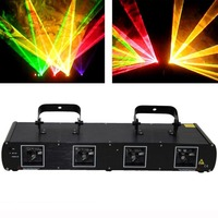 Stage Lighting Laser Light Green Red Blue Yellow 560MW Four Lens DMX512 for DJ Club Disco Home Garden Xmas Birthday Party Effect
