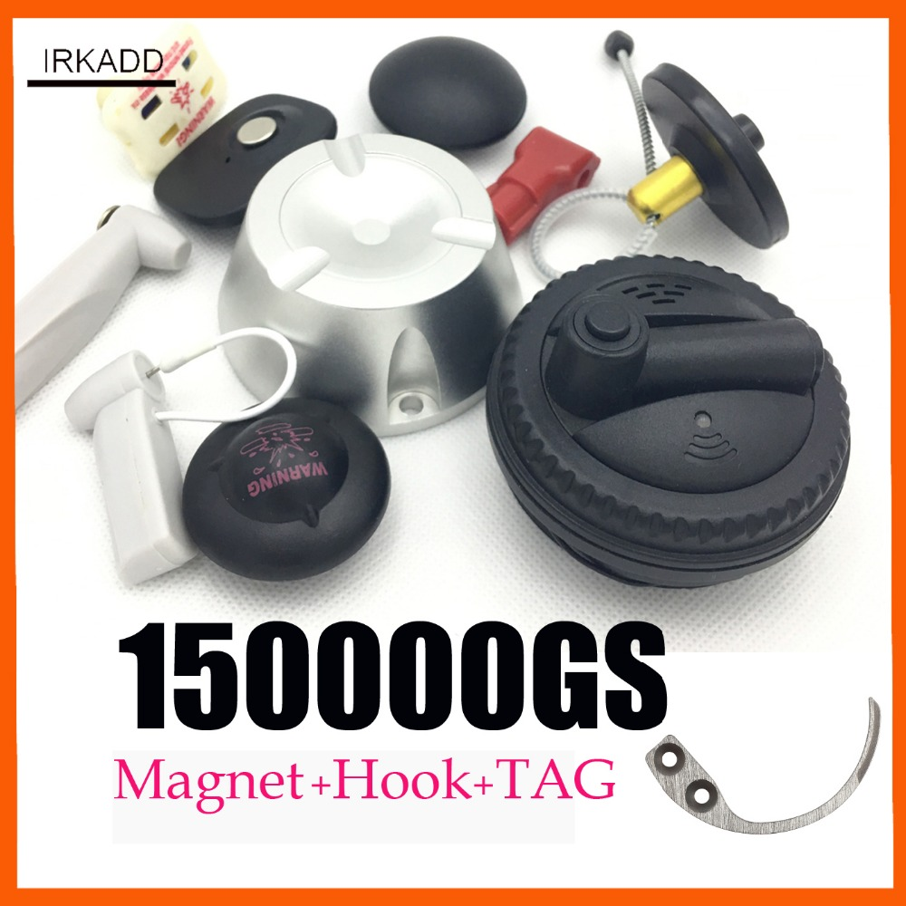 Magnetic Detacher 15000GS Universal Security Tag Remover1piecce+hook Tag Detacher Setormac Eas Tag Remover 1 Piece Free Shipping