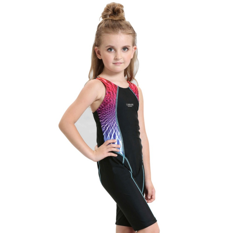 Summer Children Swimwear Girls One Piece Swimming Suits Sports Bodysuit Beachwear Professional Swim Bathing Suits