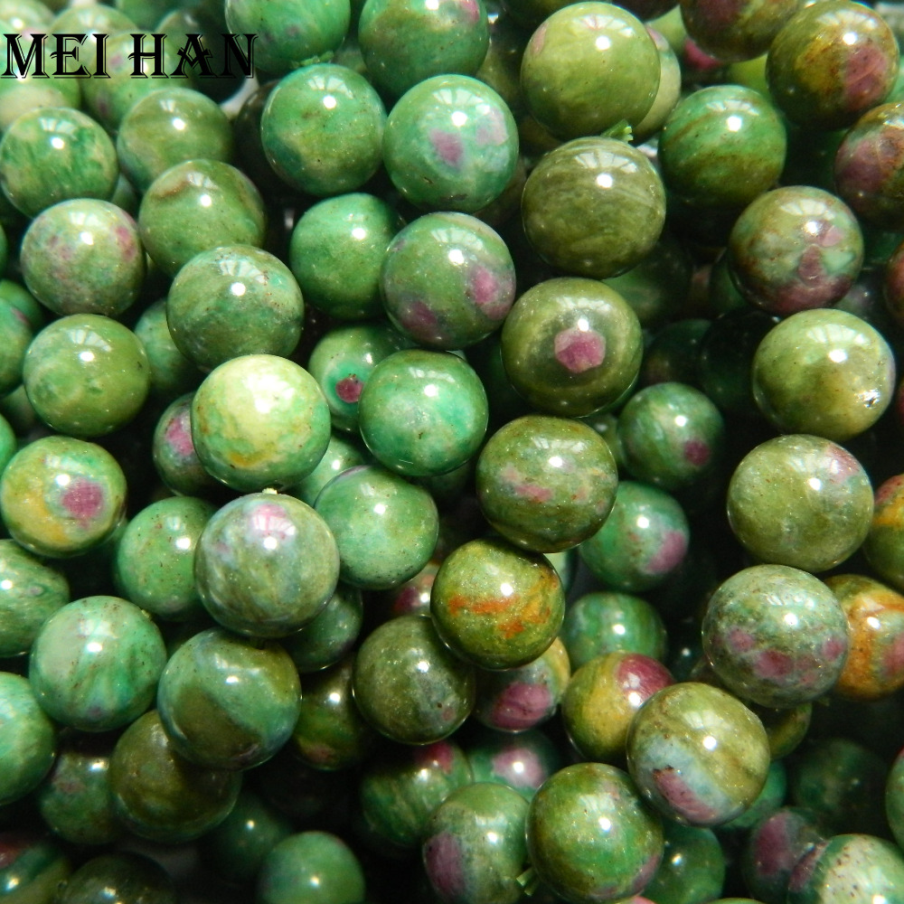 Meihan Free shipping 38 beads set 60g 9 8 10 5mm natural Brazil zoisite smooth round