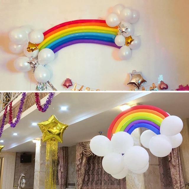1Set Mix Color Latex Long Balloon Twist Balloons Rainbow Balloons