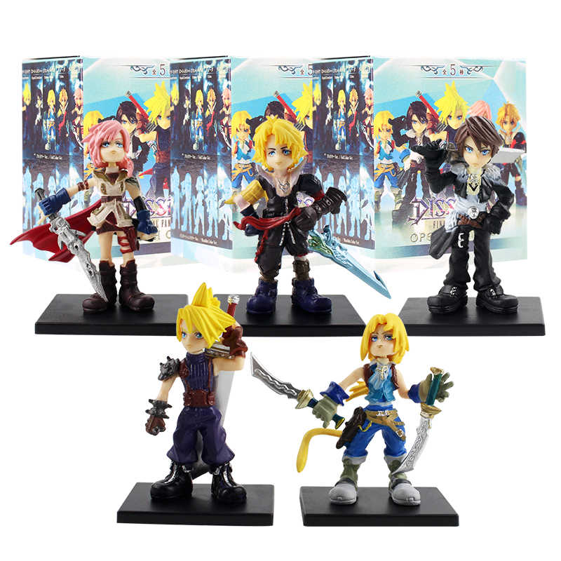 5 pçs/set 4 cm Final Fantasy Squall Leonhart negociação arts Cloud Strife Tidus Guerreiro Tidus pvc action figure toy modelo