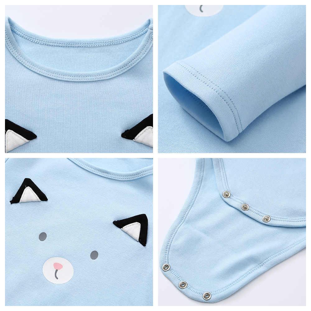 Balabala/детская одежда осень, Стильная хлопковая одежда для маленьких мальчиков и девочек розовая одежда с длинными рукавами для новорожденных, комбинезон для малышей, Bebe