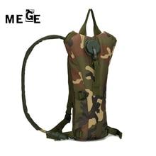 MEGE Portable 3L Bolsa de Agua Bolsa Mochila de Excursión Que Acampa Mochilas Hidratación Asalto Camo, Táctico Bicicleta Bolsa de Agua Camello