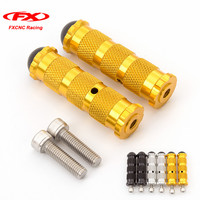 Universal Gold CNC Motorcycle Racing Bike Footpegs Footrests Foot Rest Pegs Pedals Set Motorbike Accessories Aluminum
