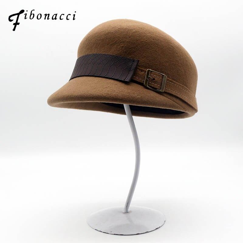 Женская фетровая шапка fibonci, шерстяной головной убор в стиле рыцаря рыцаря из дакбилла, 2018 Женские фетровые шляпы      АлиЭкспресс
