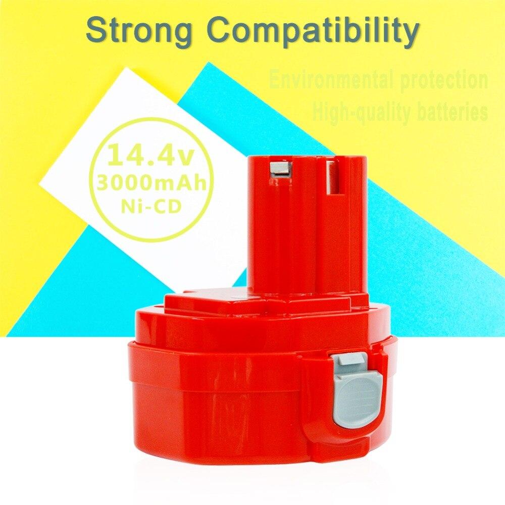 2 pièces batterie de rechange Rechargeable ni-cd 14.4 V 3000 mAh pour Makita outils électriques 6381D 6337D piles nicd 1420 1433 1435 1434 - 3