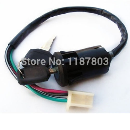 10 Pcs 4 Wire Ignition Switch Lock 2 Key For Honda GY6 Scooter Go Kart Quad 90CC 110CC 125CC ATV MOPED DIRT PIT BIKE Off Road