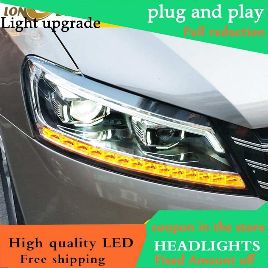 Car Styling for VW Passat Headlights 2012 2017 Northe America Passat LED Headlight DRL Lens Headlamp