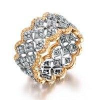 Choucong Проложить Набор 220 шт. AAAAA Циркон cz розовое золото 925 пробы серебро обручение обручальное кольцо для женщин