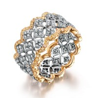 Choucong Pave set 220 pz AAAAA zircone cz Oro Rosa 925 Sterling Silver Fidanzamento Wedding Band Ring per le donne
